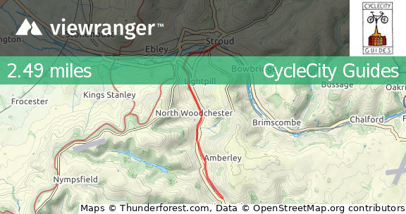 viewranger stroud valleys cycle trail from stroud to. Black Bedroom Furniture Sets. Home Design Ideas