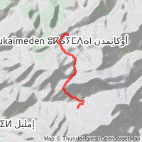 Mount Toubkal Day 1 map overview