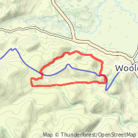 A circular route into the Cheviots out of Wooler map overview