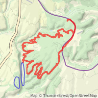 Dalby Red Route map overview