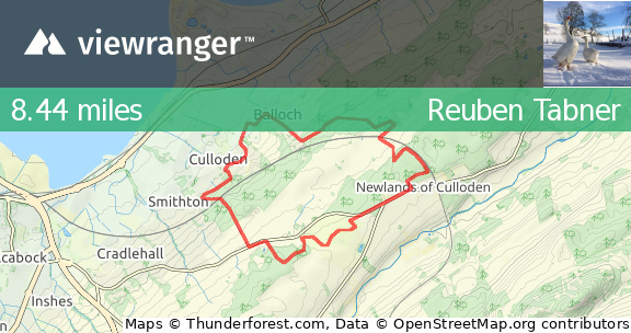 ViewRanger - Culloden Circuit - Trail Running route in