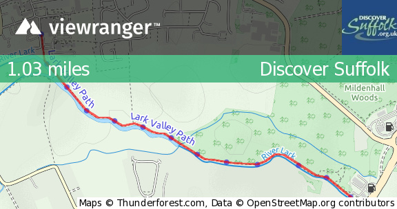 Mildenhall England Map.Viewranger Easy Access Trail Mildenhall Riverside Walking With